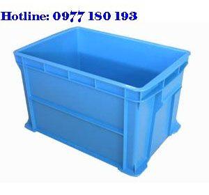Thùng Nhựa Đặc B6 Kích thước: 438x293x252mm