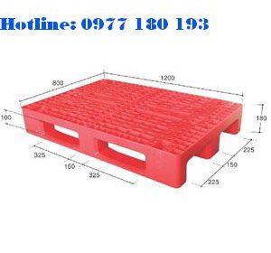Pallet PL01LK Kích thước: 1200x800x180mm Trọng tải động: 1000kg Trọng tải tĩnh: 4000kg