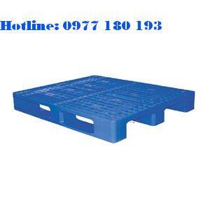 Pallet Nhựa PL04LK Kích thước: 1200x1000x150mm Trọng tải động: 1000kg Trọng tải tĩnh: 4000kg