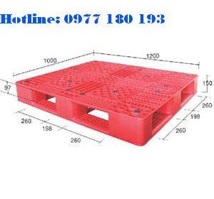 Pallet Pl05LK Kích thước: 1200x1000x150mm Trọng tải động: 1000kg Trọng tải tĩnh: 4000kg