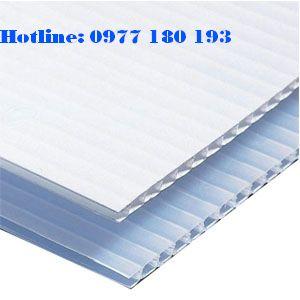 Tấm nhựa danpla màu trắng. Kích thước: 1220x2440mm Độ dày: 1mm - 2mm - 3mm-4mm-5mm
