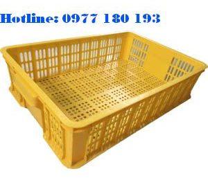 Thùng Nhựa Rỗng HS008 (Sóng nhựa hở 1T5) Kích thước: 610x420x150mm