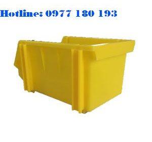 Khay Nhựa A6 vàng Kích thước: 240x155x125mm