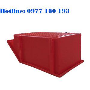 Khay Nhựa A8 đỏ úp Kích thước: 354x210x143mm