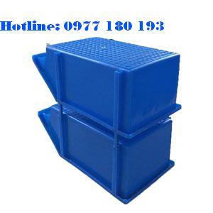 Khay Nhựa A8 xếp chồng Kích thước: 354x210x143mm