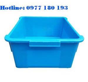 Thùng Nhựa Đặc A3 Kích thước ngoài: 370x305x160 mm