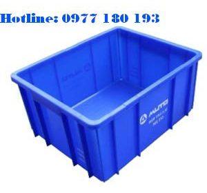Thùng Nhựa Đặc B10 Ngoài: 495x395x235mm Trong: 455x365x225mm