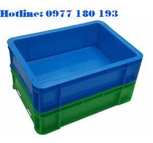 Thùng Nhựa Đặc B12 Ngoài:350x253.5x100mm Trong: 312.5x220.4x95mm