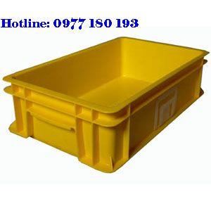 Thùng Nhựa Đặc B2 Kích thước: 455x270x120mm