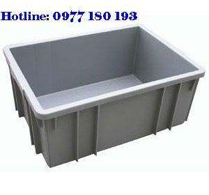 Thùng Nhựa Đặc B3 Kích thước: 460x330x182mm