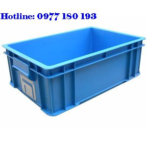 Thùng Nhựa Đặc B4 Kích thước: 510x340x170mm