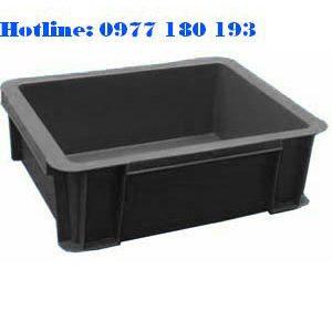 Thùng Nhựa Chống Tĩnh Điện B7 Kích Thước: 370x280x125mm