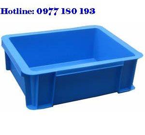 Thùng Nhựa Đặc B7 Kích thước: 370x280x125mm