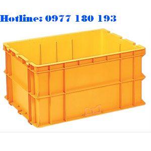 Thùng nhựa đặc NAC 604P Kích thước ngoài: 800x600x400mm Kích thước trong: 750x550x378mm