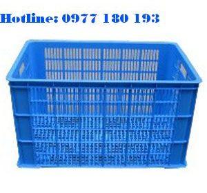 Thùng Nhựa Rỗng C2 Kích Thước Ngoài: 780x498x449mm Kích Thước Trong: 742x459x422mm