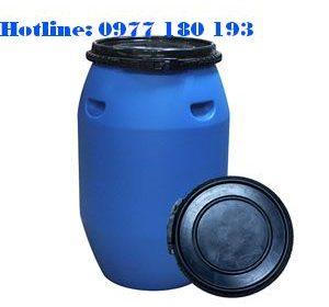 Thùng Phuy Nhựa 120l Đai Nhựa Kích thước: 430 x H 760mm Trọng lượng: 5,2kg