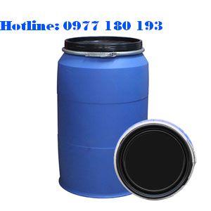 Thùng phuy nhựa 220l đai sắt Kích thước: 580 x H 930 mm Trọng lượng: 10kg