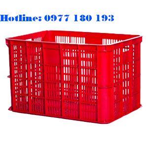 Thùng nhựa rỗng HS005 Kích thước: 610x420x390mm