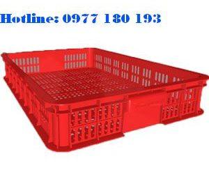 Thùng nhựa rỗng HS010 Kích thước: 610x420x100mm