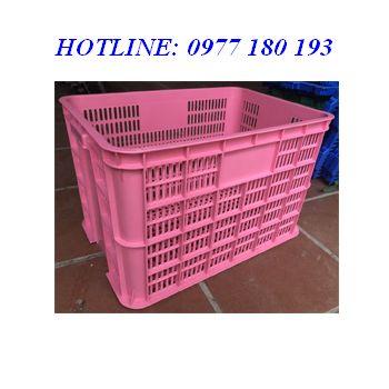 Thùng nhựa rỗng HA005 màu hồng